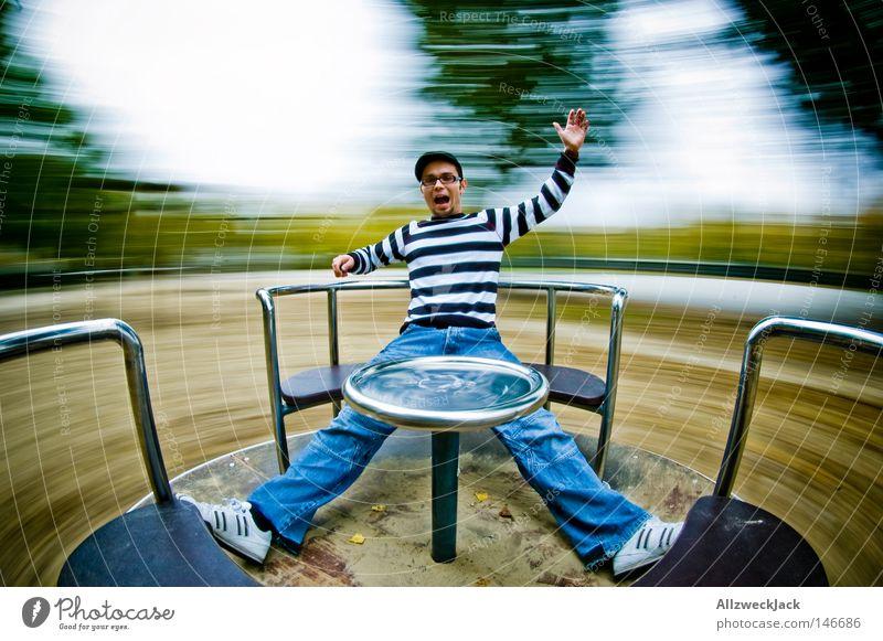 Man Joy Playing Speed Scream Wheel Playground Circle Carousel Distorted Romp Vertigo Gyroscope High spirits Extreme sports Places