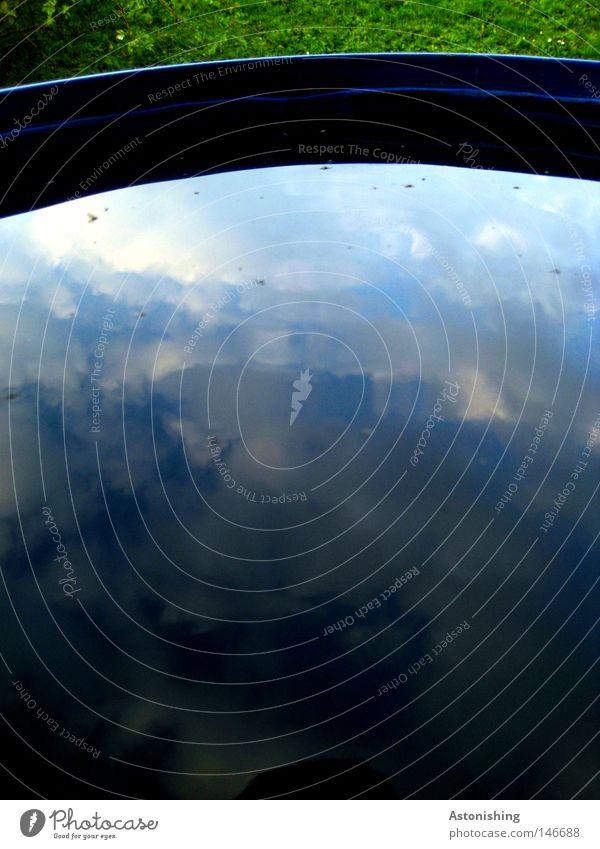 Water Sky Green Blue Clouds Colour Dark Meadow Grass Dye Bright Force Converse Mirror image Bucket Keg