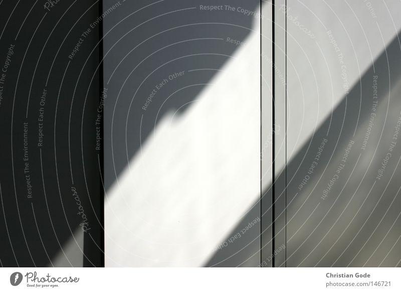 Geometry of light Cupboard Steel Shadow Light and shadow Art Collection Keep Lockbox Vertical Diagonal Bright Dark Sunlight Window Midday Seam Door