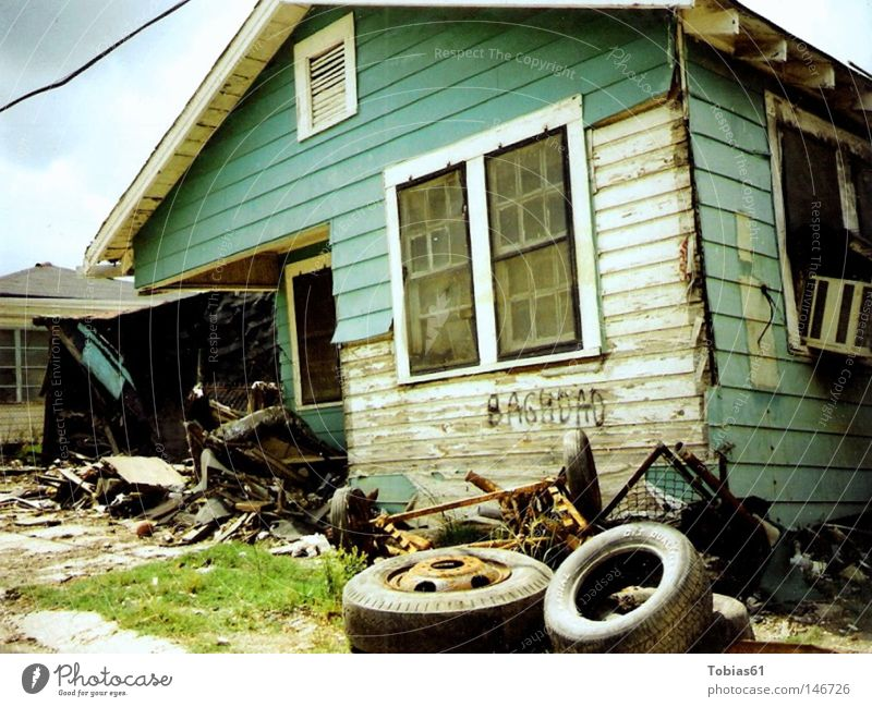 New Orleans Tragedy House (Residential Structure) Ghetto Destruction Distress Grief War Derelict Lower 9th Hurricane Katrina Broken Home broken house