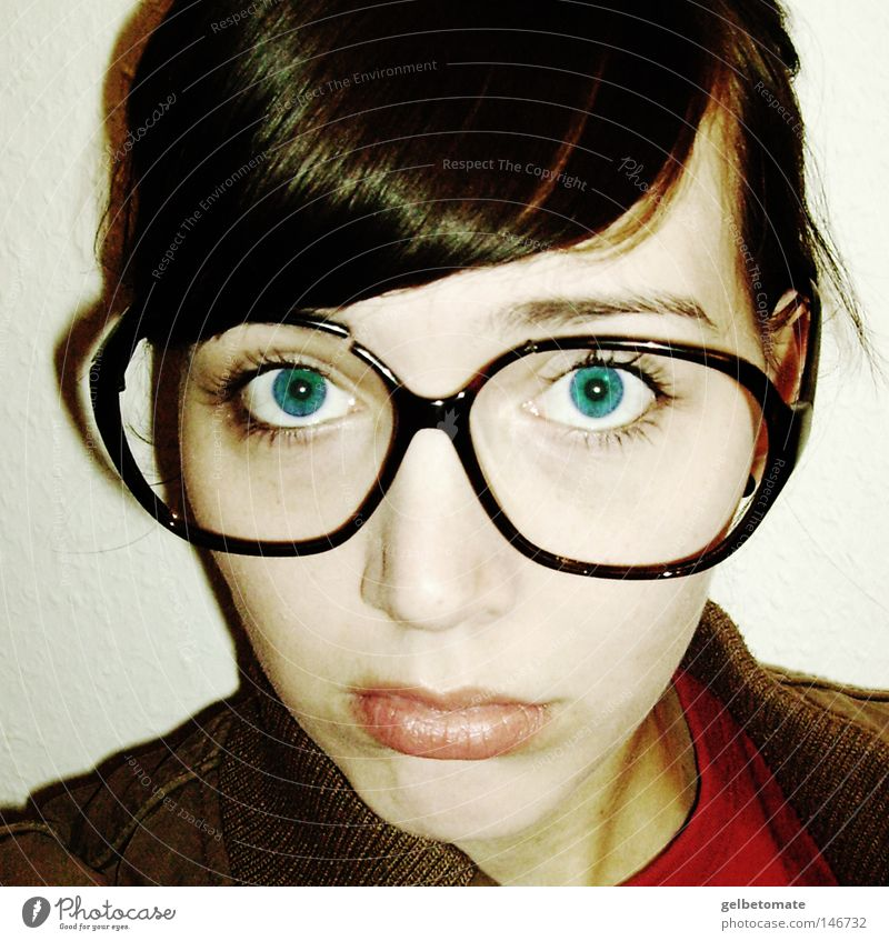 Woman Blue Adults Eyes Sadness Emotions Broken Eyeglasses Cool (slang) Grief
