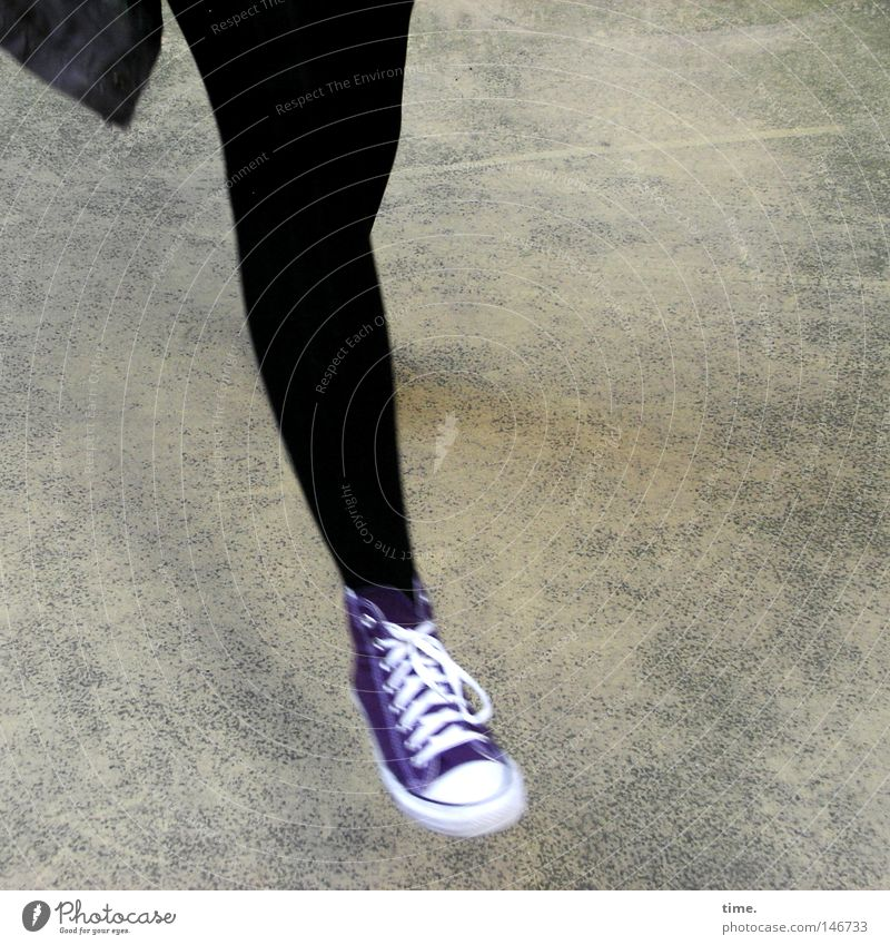 HH08.3 - Dancing Queen Of The Backyard Joy Life Leisure and hobbies Dance Feminine Woman Adults Legs Footwear Concrete Movement Black Shoelace Hop Hover