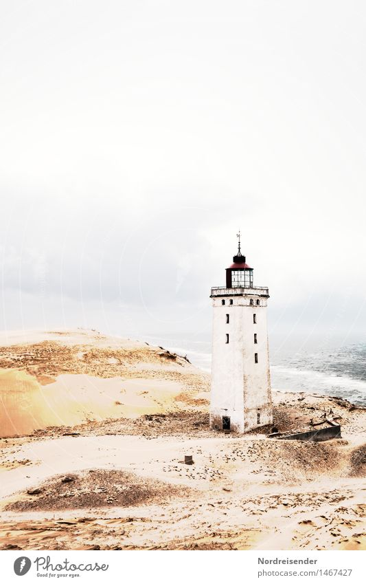 Rubjerg Knude Fyr Vacation & Travel Tourism Ocean Elements Coast North Sea Deserted Ruin Lighthouse Manmade structures Building Architecture Tourist Attraction