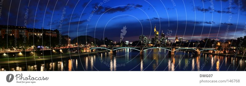 Panorama Skyline Frankfurt Lifestyle Summer Winter Financial Industry Financial institution Water Autumn River Town Bank building Airport Bridge Tower Large