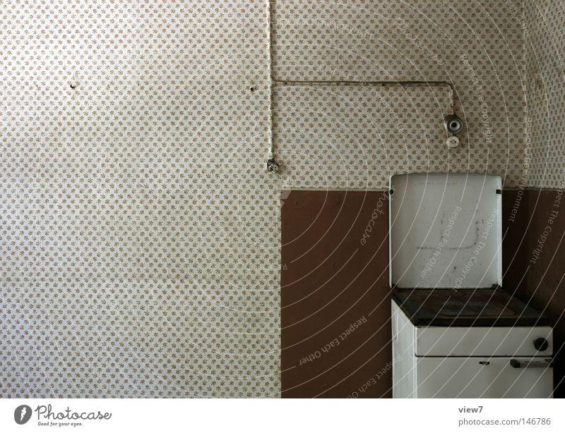 Loneliness Time Door Going Glass Flat (apartment) Dirty Arrangement Broken Floor covering Corner Cooking & Baking Kitchen Derelict Moving (to change residence) Wallpaper