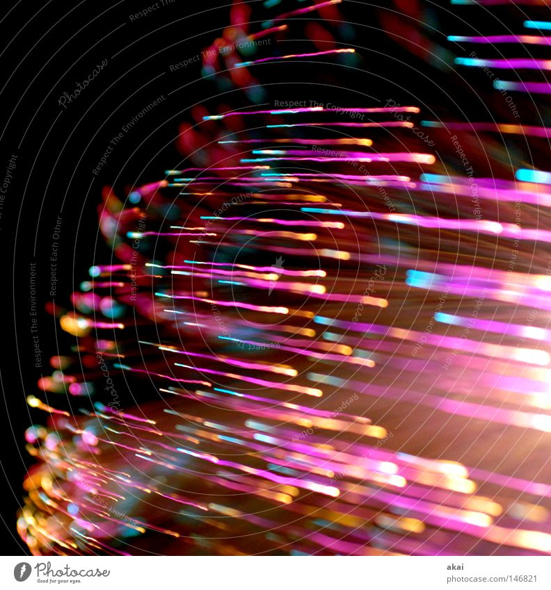light worlds UFO lamp TV lamp Exposure Visual spectacle Long exposure Experimental Stripe Fiber optics Study or Survey Art Arts and crafts  streaky telly