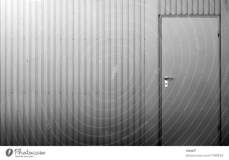 Gray Metal Bright Door Closed Transport Safety Industry Construction site Industrial Photography Things Firm Gate Steel Silver