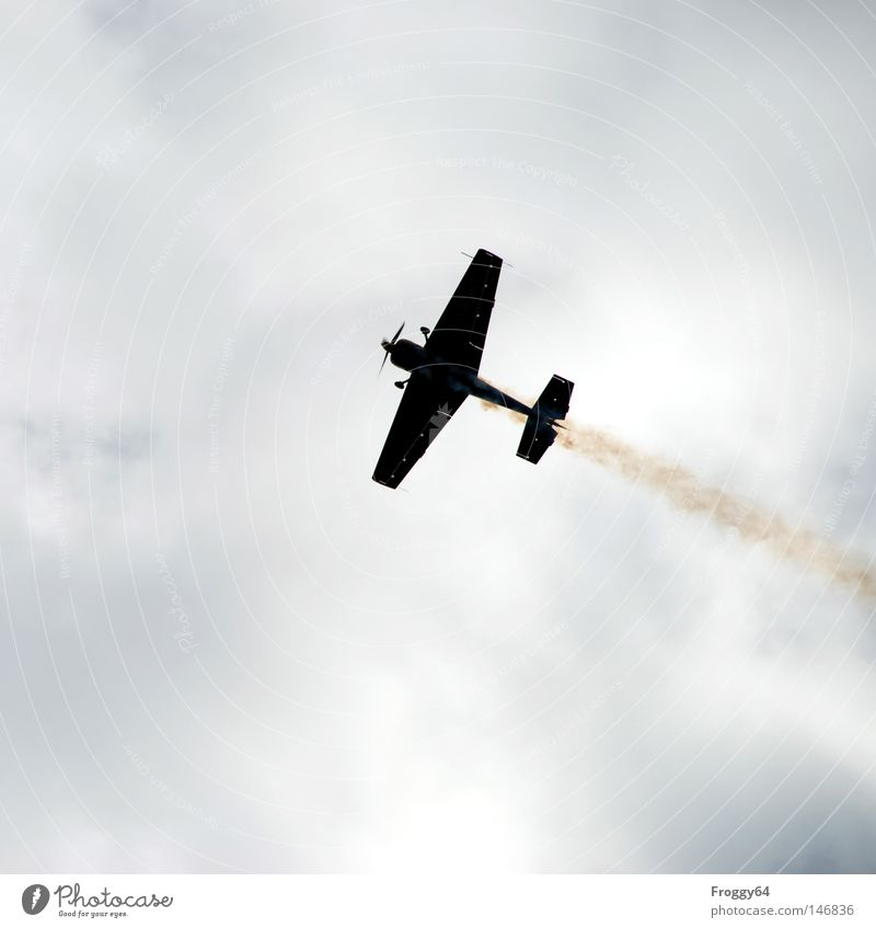Sky Clouds Airplane Flying Aviation Wing Shows Airplane takeoff Airport Exhaust gas Airplane landing Propeller Air show Extreme sports Aerobatics