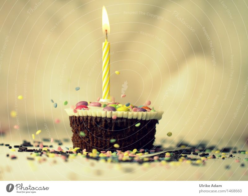 Joy Yellow Happy Exceptional Feasts & Celebrations Food Brown Decoration Birthday Creativity Sweet Cool (slang) Candle Kitsch Discover Candy