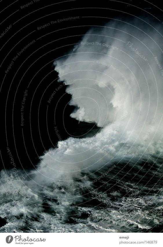 Water White Ocean Dark Cold Waves Wet Inject White crest Break water Effervescent