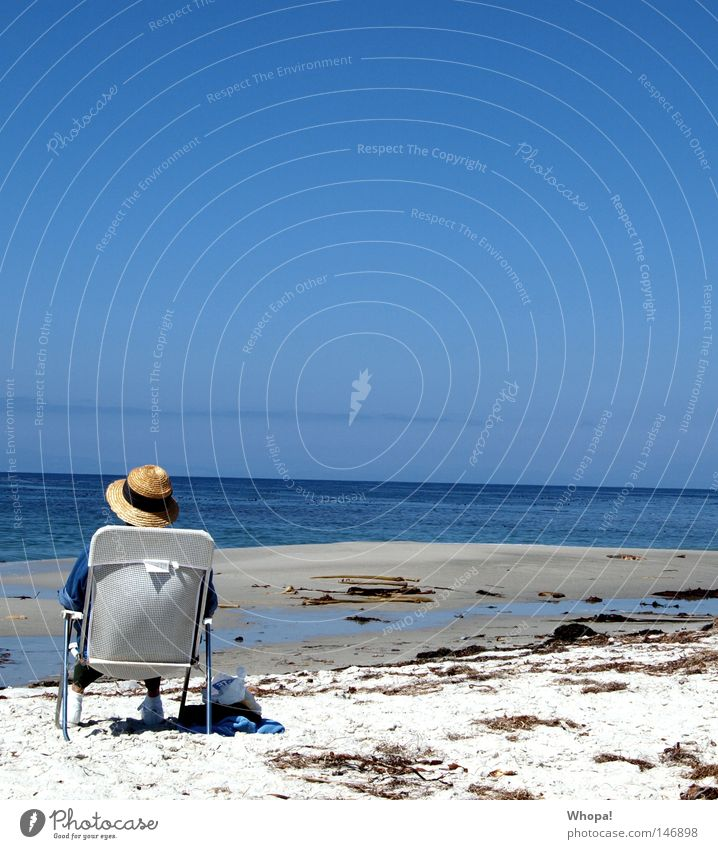 Ocean Beach Relaxation Coast USA Chair Hat To enjoy California Pacific Ocean Sunhat Monterey