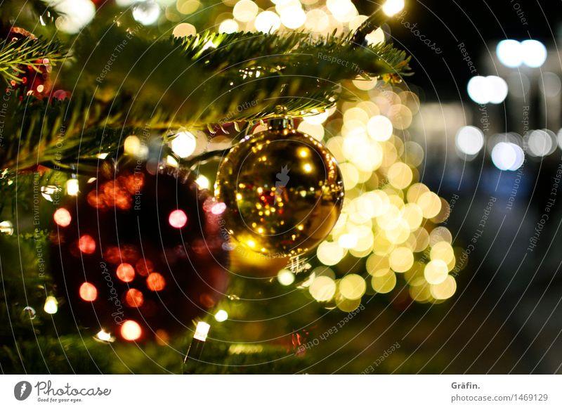 Christmas & Advent Tree Red Calm Winter Yellow Interior design Living or residing Illuminate Retro Decoration Glittering Gold Idyll Warm-heartedness Curiosity