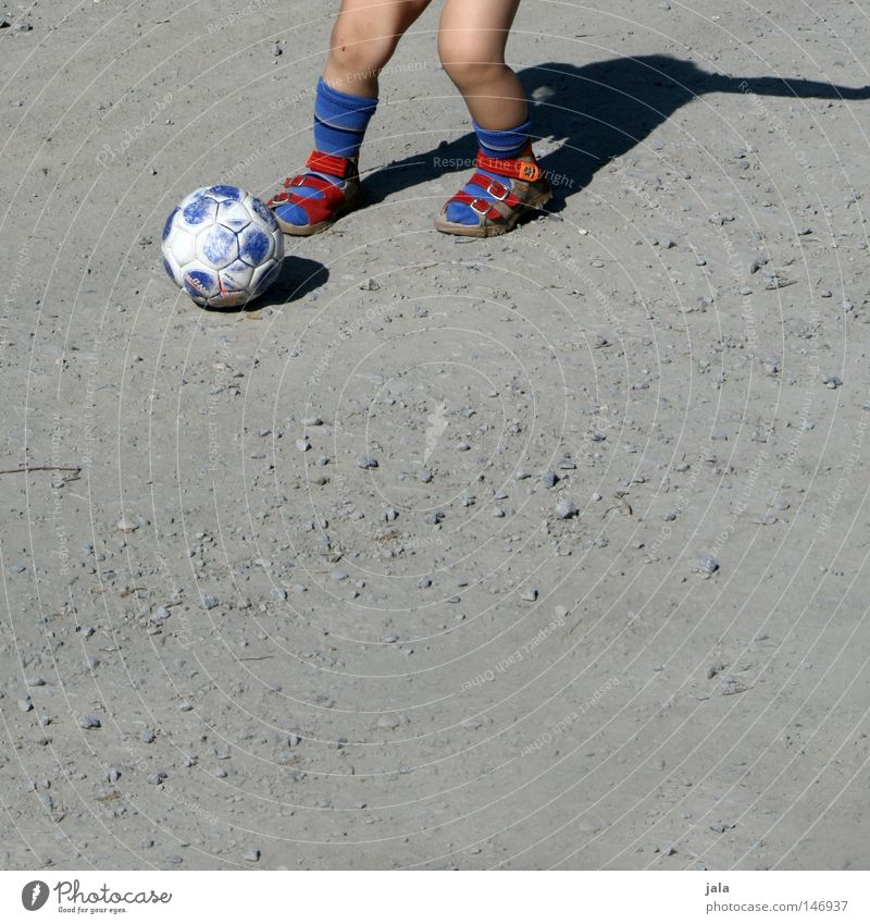 Human being Blue Red Summer Sports Playing Stone Sand Soccer Bright Walking Action Ball Leisure and hobbies Friendliness Athletic