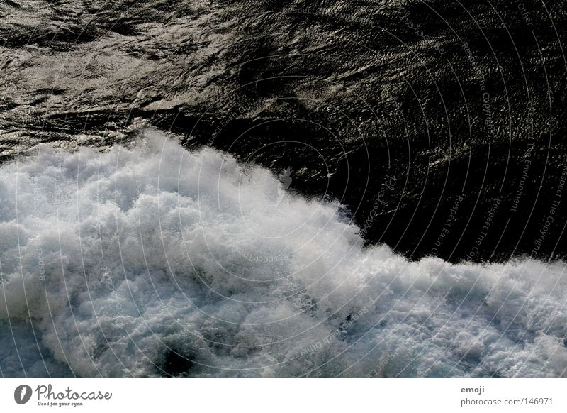 Water White Ocean Dark Cold Waves Wet Inject White crest Break water Bank reinforcement Effervescent