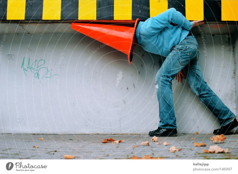 Human being Man Blue White Red Joy Wall (building) Street Wall (barrier) Playing Lifestyle Bright Door Transport Signs and labeling Sit