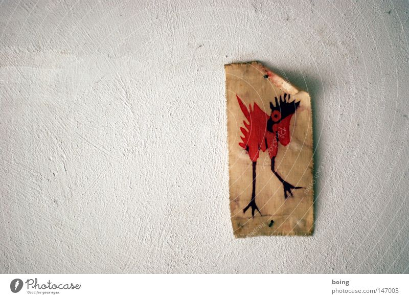 Wall (building) Bird Art Hope Cloth Barn fowl Rooster Arts and crafts  Cloth pattern Chirping Wall decoration Bird of paradise Batik Bird of paradise Wall decoration Wagtail