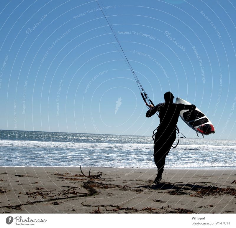 Surfing Coast USA Surfer Kiting California Pacific Ocean