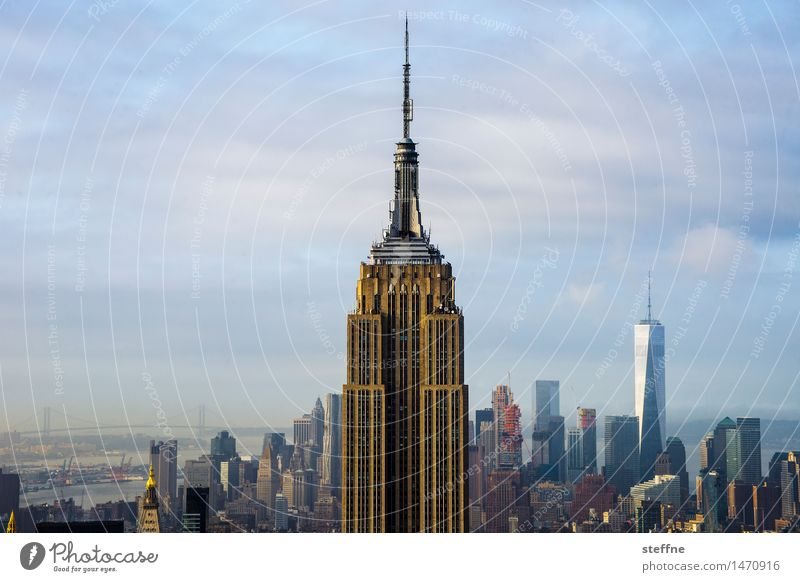 icon New York City Manhattan USA Town Skyline High-rise Facade Tourist Attraction Landmark Empire State building World Trade Center Downtown King Kong