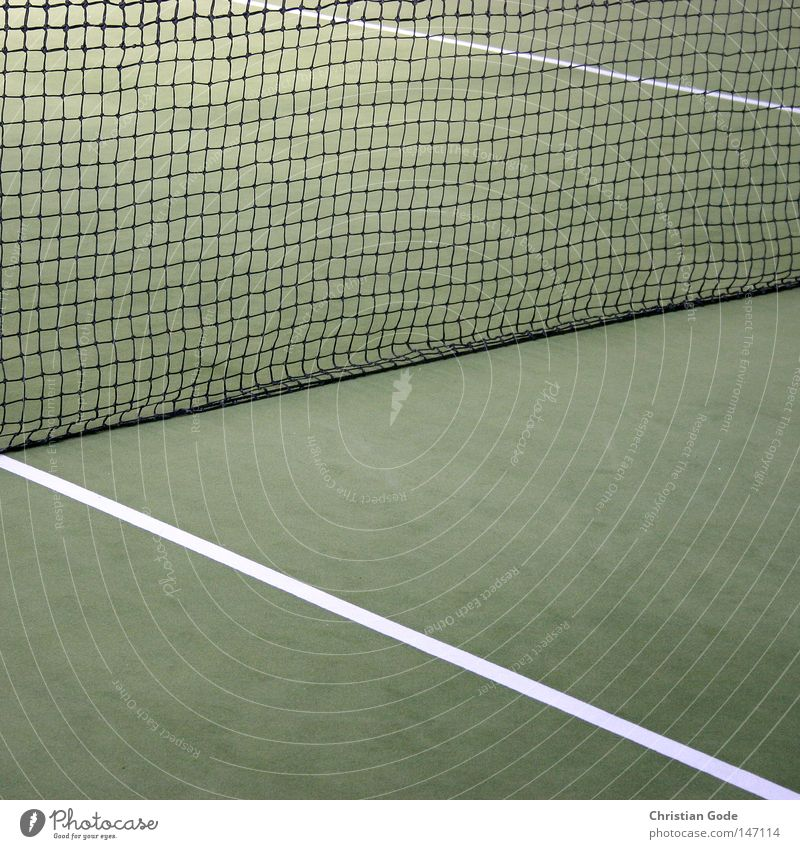 15:0 Tennis Carpet Winter Winter break Reserved Green Line White Speed Playing Tennis rack Player 2 Service Jump Success Net Sports Hall Diagonal Gymnasium