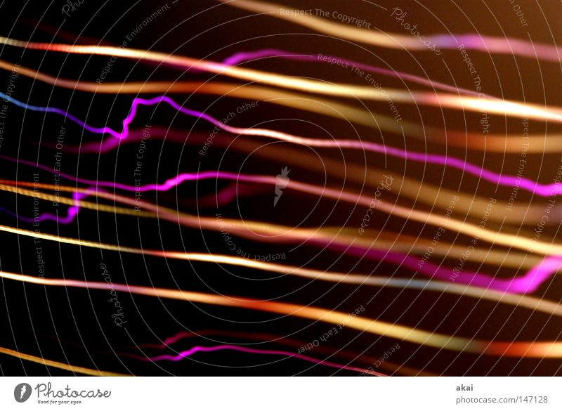 Light worlds2 UFO lamp TV lamp Exposure Visual spectacle Long exposure Experimental Stripe Fiber optics Study or Survey Beautiful streaky telly