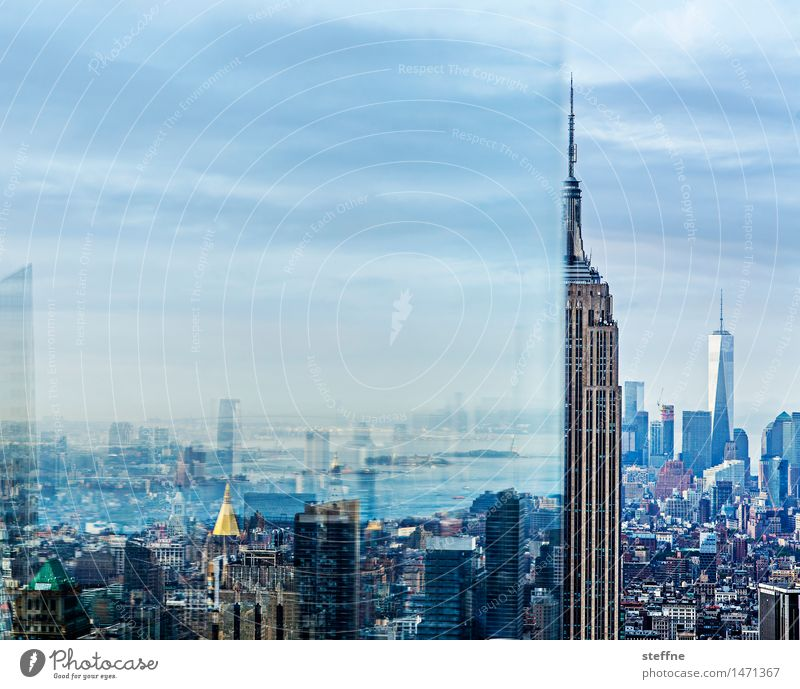 City Exceptional High-rise Esthetic Skyline Landmark Tourist Attraction Illusion Manhattan New York City Overpopulated World Trade Center Empire State building