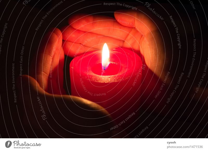 Christmas & Advent Hand Relaxation Calm Dark Warmth Think Moody Bright Glittering Illuminate Fire Help Touch Hope Protection