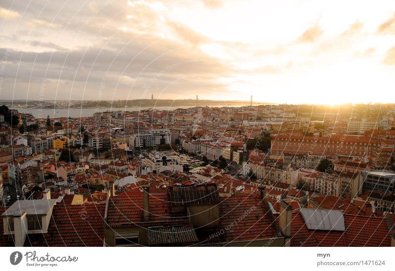 Lisbon I Vacation & Travel Tourism Trip Adventure Far-off places Freedom Sightseeing City trip Summer Sun Clouds Horizon Sunrise Sunset Sunlight