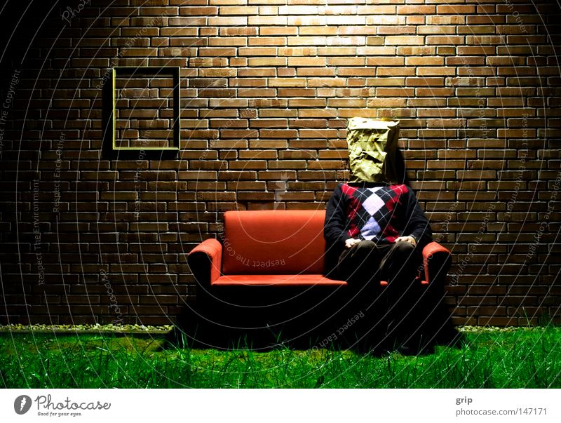 Red Joy Loneliness Lamp Meadow Sadness Wall (barrier) Sit Grief Time Living or residing Sofa Brick Hide Living room