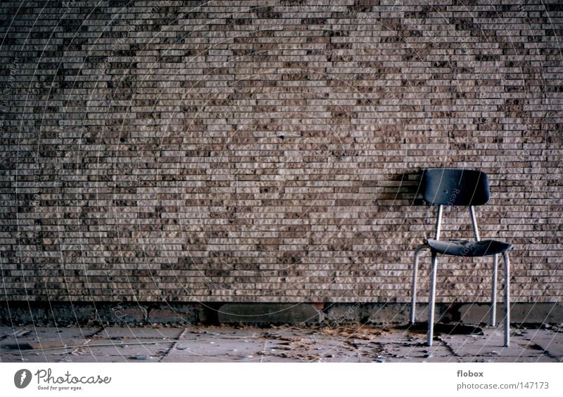 Old Loneliness House (Residential Structure) Building Wall (barrier) Brown Room Dirty Empty Concrete Retro Broken Past Chair Derelict Factory