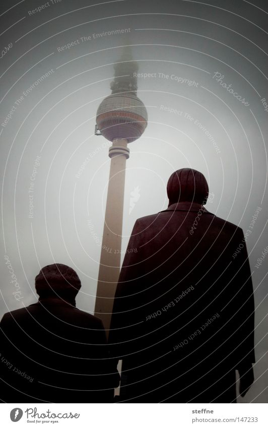 Man Berlin Art Tall Statue Monument Landmark Tourist Berlin TV Tower Television tower Tourist Attraction