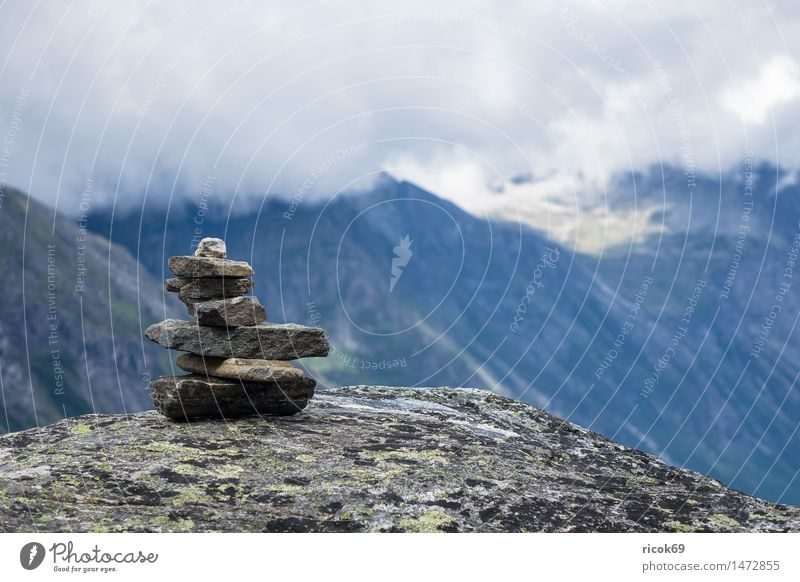 Mountains in Norway Relaxation Vacation & Travel Nature Landscape Clouds Stone Idyll Calm Tourism Stack Møre og Romsdal destination Sky voyage Scandinavia