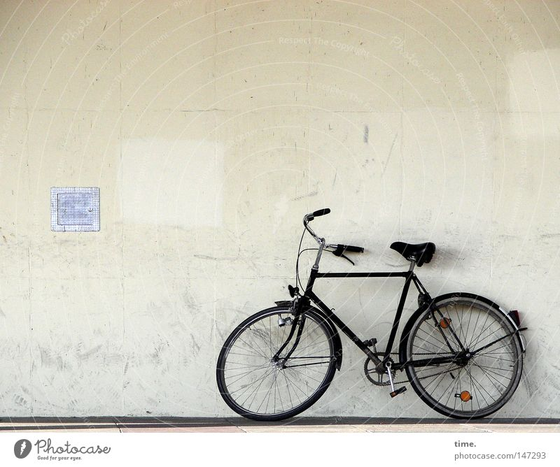 House (Residential Structure) Wall (building) Playing Wall (barrier) Building Bicycle Wait Dirty Leisure and hobbies Ecological Parking Grating Lean Potsdam Means of transport Bicycle handlebars