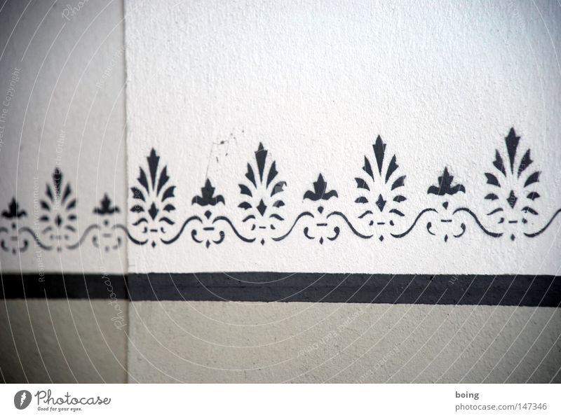 Wall (building) Graffiti Wallpaper Craft (trade) Living room Plaster Painter Border Profession Mural painting Stencil Tribal Room setup