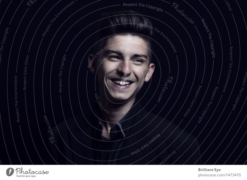 Natural laughter Life Business Human being Masculine Young man Youth (Young adults) 1 13 - 18 years Fashion smile Laughter Authentic Emotions Joy luck Happiness