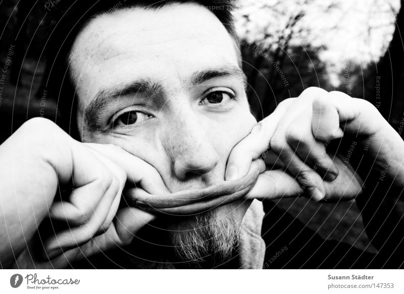 Wide-angle snute Wide angle Mouth Children`s mouth Face Black White Facial hair Man Grief Duck Beak Laughter Beautiful Moritzburg castle danny Sadness