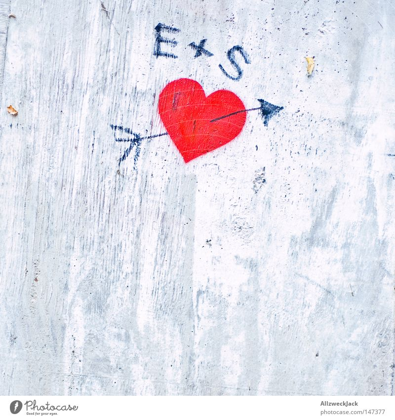 Love Wall (building) Emotions Happy Graffiti Heart Concrete Communicate Information Arrow Symbols and metaphors Attachment Communication Valentine's Day Equal