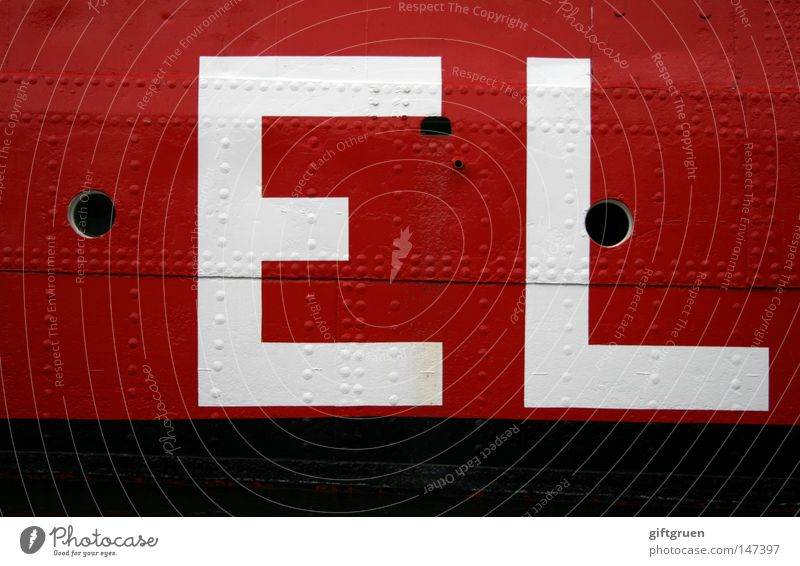 E L Red Black White Watercraft Inscription Typography Letters (alphabet) Capital letter Cargo Industry Navigation Characters Point shipload Logistics letters