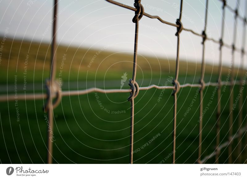 small checkered & cross-striped Meticulous Checkered Striped Wire netting Fence Wire netting fence Vantage point Closed Captured Stop Dike To go for a walk