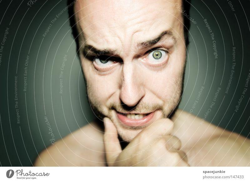 Human being Man Joy Face Portrait photograph Anger Evil Expectation Freak Aggravation Aggression Skeptical Redneck Heartless Beast