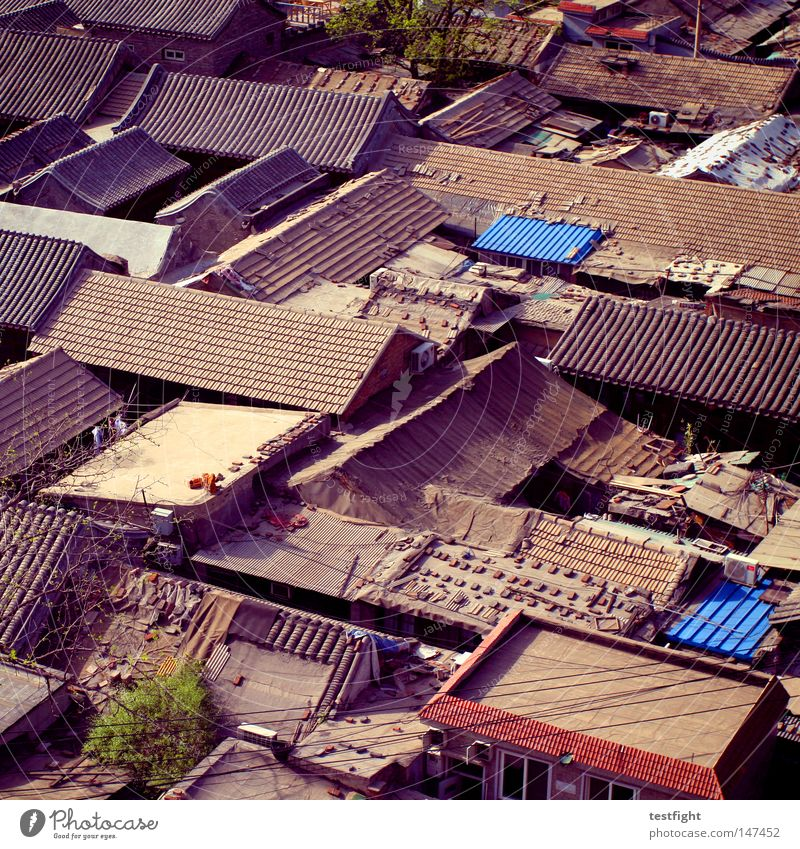 Old House (Residential Structure) Life Architecture Corner Roof Threat Simple China Historic Traffic infrastructure Narrow Build Simplistic Old town
