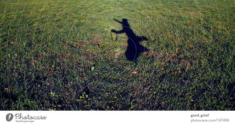 to cut a caper Jump Hop Meadow Field Man Child Childish Grass Sunlight Autumn Blur Joy jumping around frisk Shadow Human being Boy (child) camera strap Legs Arm