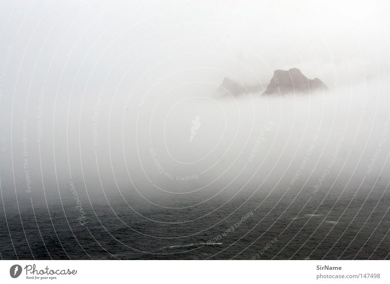 Beautiful Ocean Calm Far-off places Beach Mountain Coast Moody Fog Mysterious Sublime Spirituality