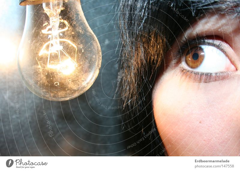 ray of hope Electricity Light Electric bulb Eyes Marvel Invention Bright Planning Macro (Extreme close-up) Close-up Idea