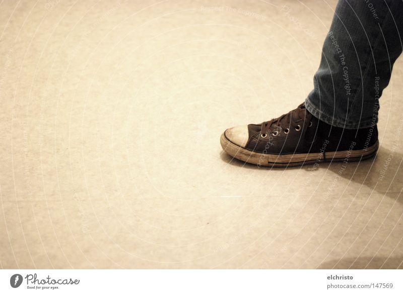 Calm Gray Feet Footwear Legs Bright Brown Wait Clothing Sit Jeans Ground Floor covering Denim Chucks Sneakers