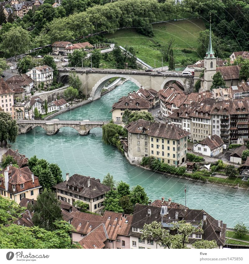 Bern Nature Water Tree Grass Park Meadow Forest Hill River Town Capital city Downtown Populated House (Residential Structure) Detached house High-rise