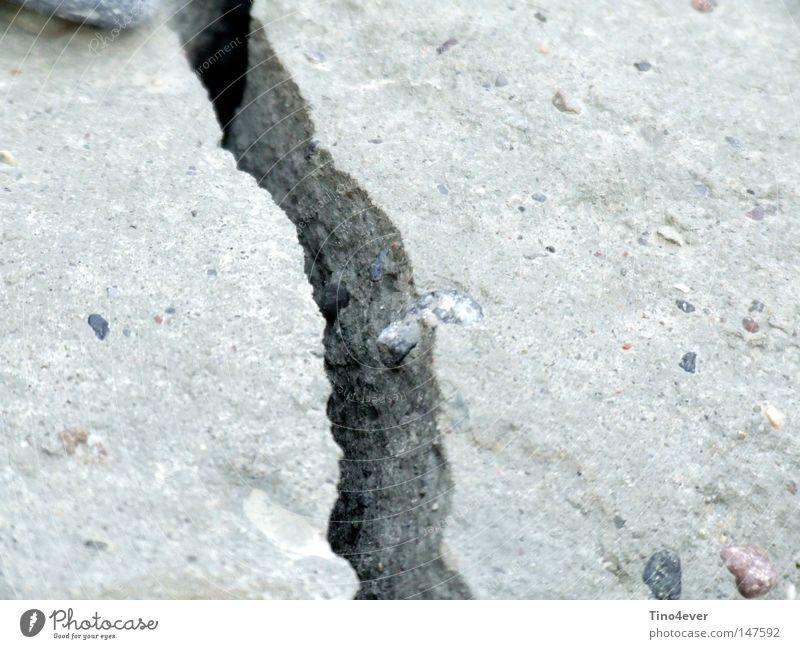 Gray Stone Concrete Corner Broken Crack & Rip & Tear Furrow Minerals Loam