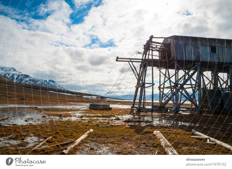 Abandoned wooden coal mine transportation station Nature Vacation & Travel City Summer Landscape Architecture Building Wood Europe European Remote Home