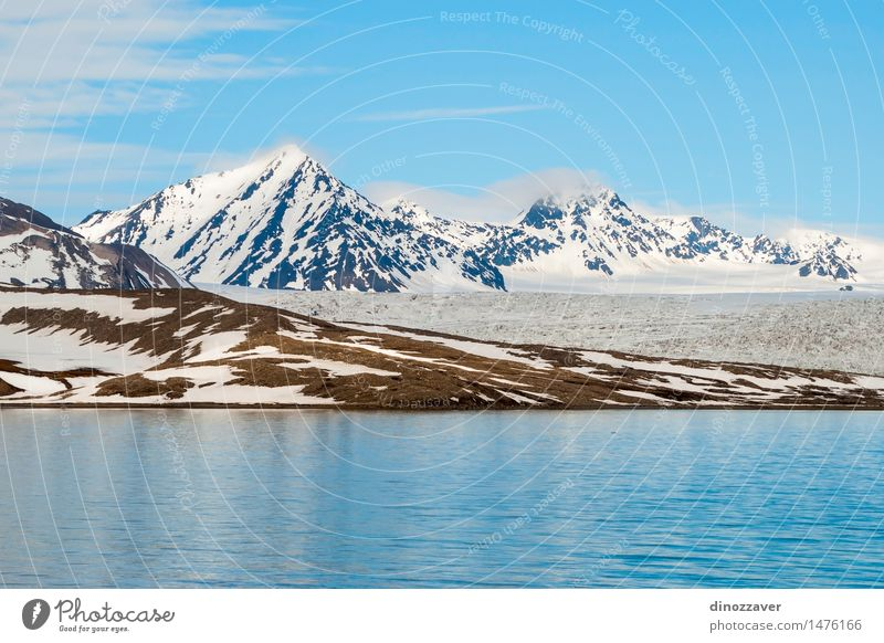 Arctic mountains Vacation & Travel Ocean Winter Snow Mountain Environment Nature Landscape Climate Glacier Coast Freeze Blue White ice The Arctic polar