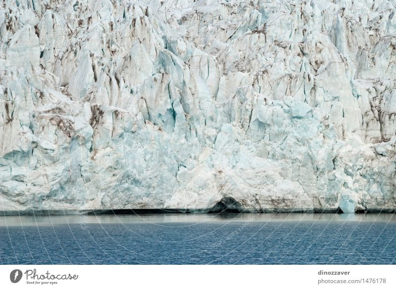 Glacier Vacation & Travel Ocean Winter Snow Mountain Environment Nature Landscape Climate Coast Freeze Blue White ice The Arctic polar Spitzbergen Iceberg