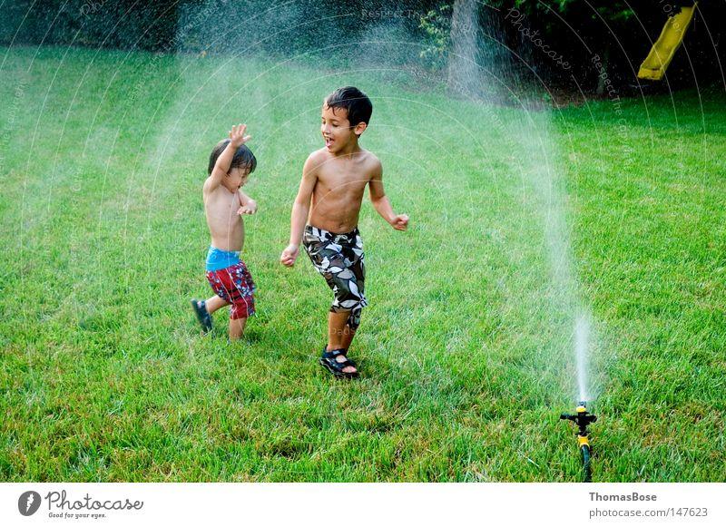 Sprinkler Fun Summer Water Backyard Effortless Joy USA boys sprinkler children